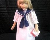 Adorable Vintage 1985 Sailor Girl  Marina  Doll by Pauline Bjonness Jacobsen