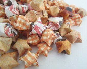 SALE 100 Orange Monarch Origami Stars