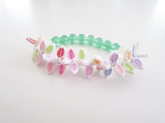 Rainbow Leaflet Festival Bracelet