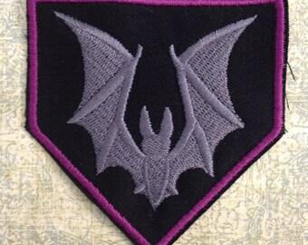 Charcoal Bat Patch - Pentagon shape Purple