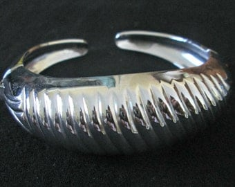 1950s Silver Cuff Bracelet Coro Pegasus Hinged