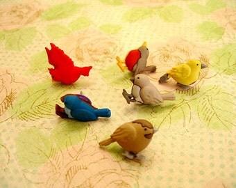 Bird Thumbtack, Bird Push Pin, Bird Notice Board Pins - 6 PCS