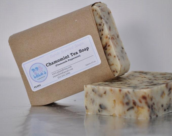 Chamomint Tea Soap (Chamomile Peppermint) -- All Natural Soap, Handmade Soap, Tea Scented Soap, Peppermint Soap, Hot Process, Vegan Soap