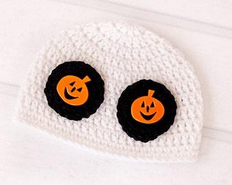 Ghost Hat/Halloween Hat (fits 0-3 months, 3-6 months, 6-9 months, 9-12 months, 1T-3T)
