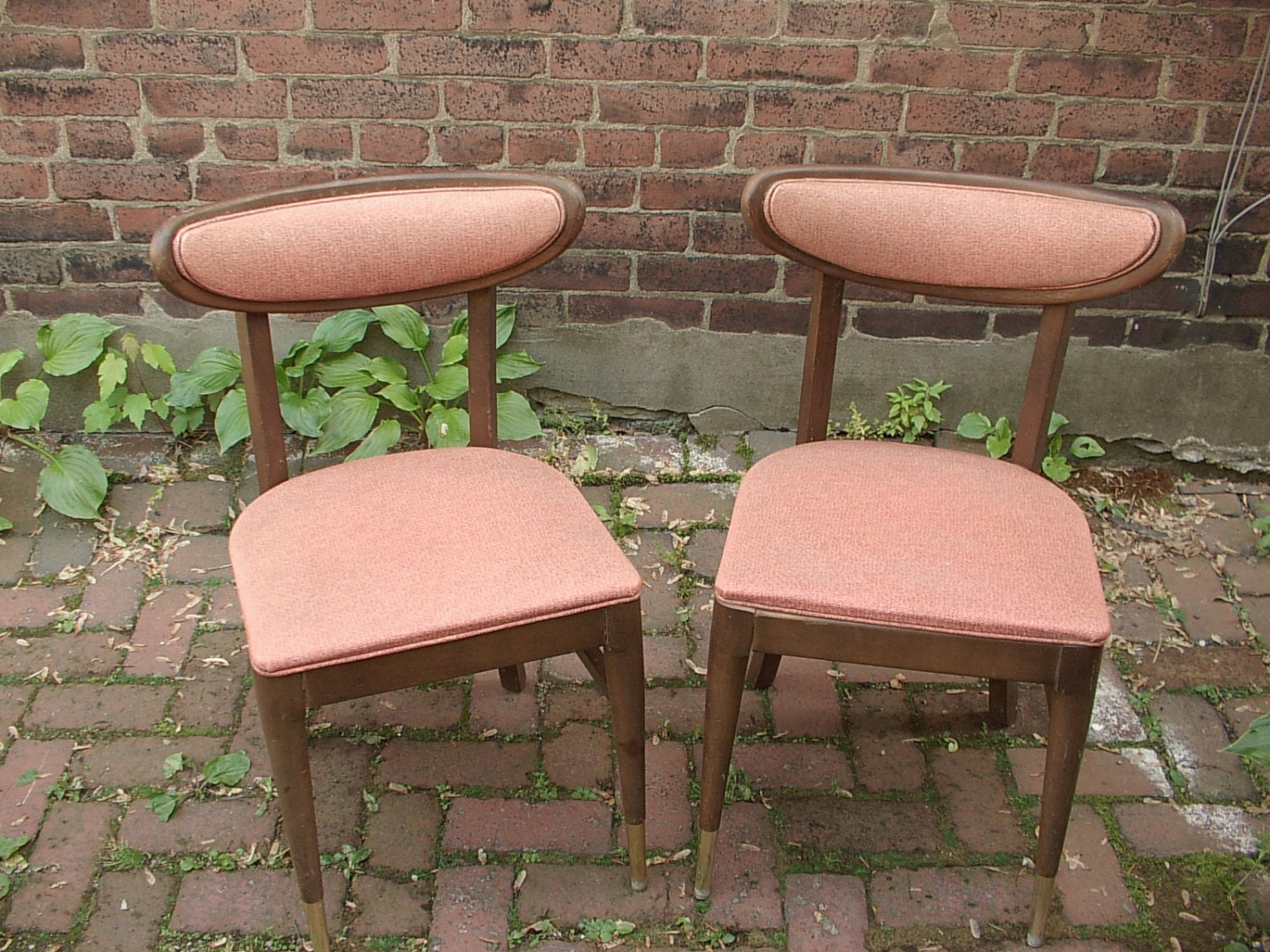 Vintage 1960 39 s mid century modern dining chairs by for Mid century modern dining chairs vintage