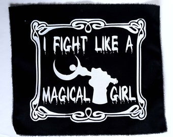 I Fight Like A Magical Girl Sailor Moon Punk Patches large for back