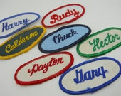 vintage name patch, choice of 3 names remaining, personalize your bowling or retro mechanics' shirt, label your tool box or backpack