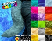 Choose Your Colors! Faux Fur Fox Wolf Tail - Cosplay - Fursuit - Furry - Costume