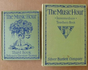 The Music Hour Intermediate Teacher's Book and Third Book 1930s music instruction