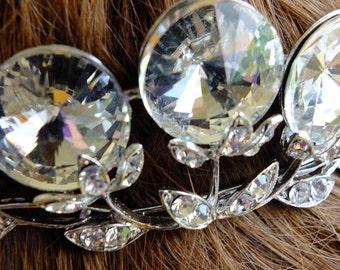 Rhinestone Wedding headpeice flapper tiara gatsby style