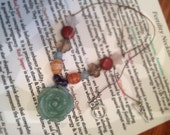 Custom-made Fertility  Necklace with metaphysical gemstone  meaning, free shipping in US