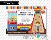Printable Boy or Girl Games Arcade Chuck E. Cheese's Birthday Party Invitation - Digital File