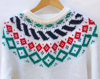 Cozy White Holiday Sweater