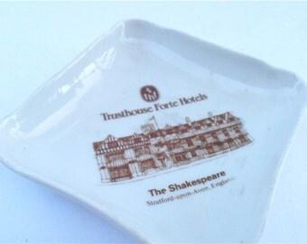 Vintage Pillivuyt Porcelain Soap Tip Tray Ring Dish Trusthouse Forte Hotel The Shakespeare Souvenir J Chomette Pottery Pilvite Mehun France