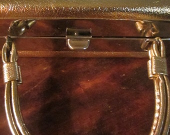 vintage antique snazzy GOLD BOX purse in great condition