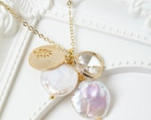 Crystal Charm Cluster Necklace