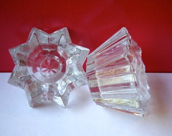 Vintage Votives Two glass candle holders 1980s