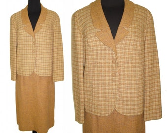 Vintage 1960s Suit . Tailored Pendleton 100% Virgin Wool  Mad Men Femme-Fatale Hourglass Pencil-Wiggle Wedding Career New Look Mod