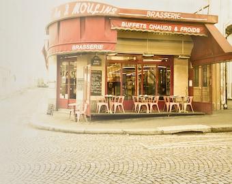 Paris photography, Paris art, Petit Dejeuner, 8x10