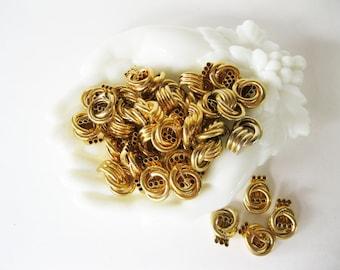 Goldtone Jewelry Findings Vintage Earring or Brooch Destash 10 pieces Trifari - CT/FL