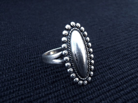 Vintage Bell Trading Post Sterling Silver Ring Size 7 5 Long