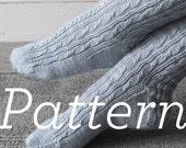 Knit Socks Pattern // Twists & Braids Socks pdf pattern