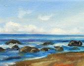 Beach, Original oil painting