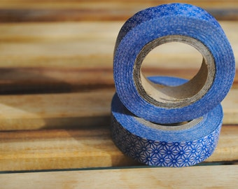 Washi Tape Roll (1) Blue/Stars/Geometric