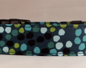 Dog Collar, Martingale Collar, Cat Collar - All Sizes - Water Garden