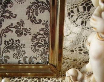 Goldtone metal, Mid century Art Deco frame