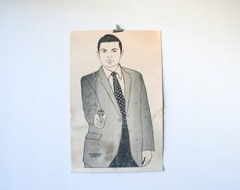 RARE Vintage Secret Service Paper Shooting Target Poster