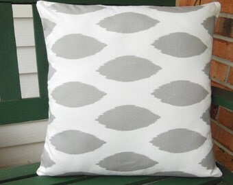 Gray White Decorative Throw Pillows Cushion Covers Gray White Chipper Nursery Pillows Baby Bedroom Home decor Pillow Cushions All Sizes