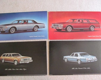 """Vintage Car Dealership Advertisement Poster Board Display Circa 1970s - Your Choice - 18"""" x 32"""""""