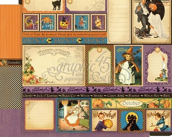 BOTH  October Pages - RETIRED Graphic 45 Place in Time  ** See Discounted Shipping Note**