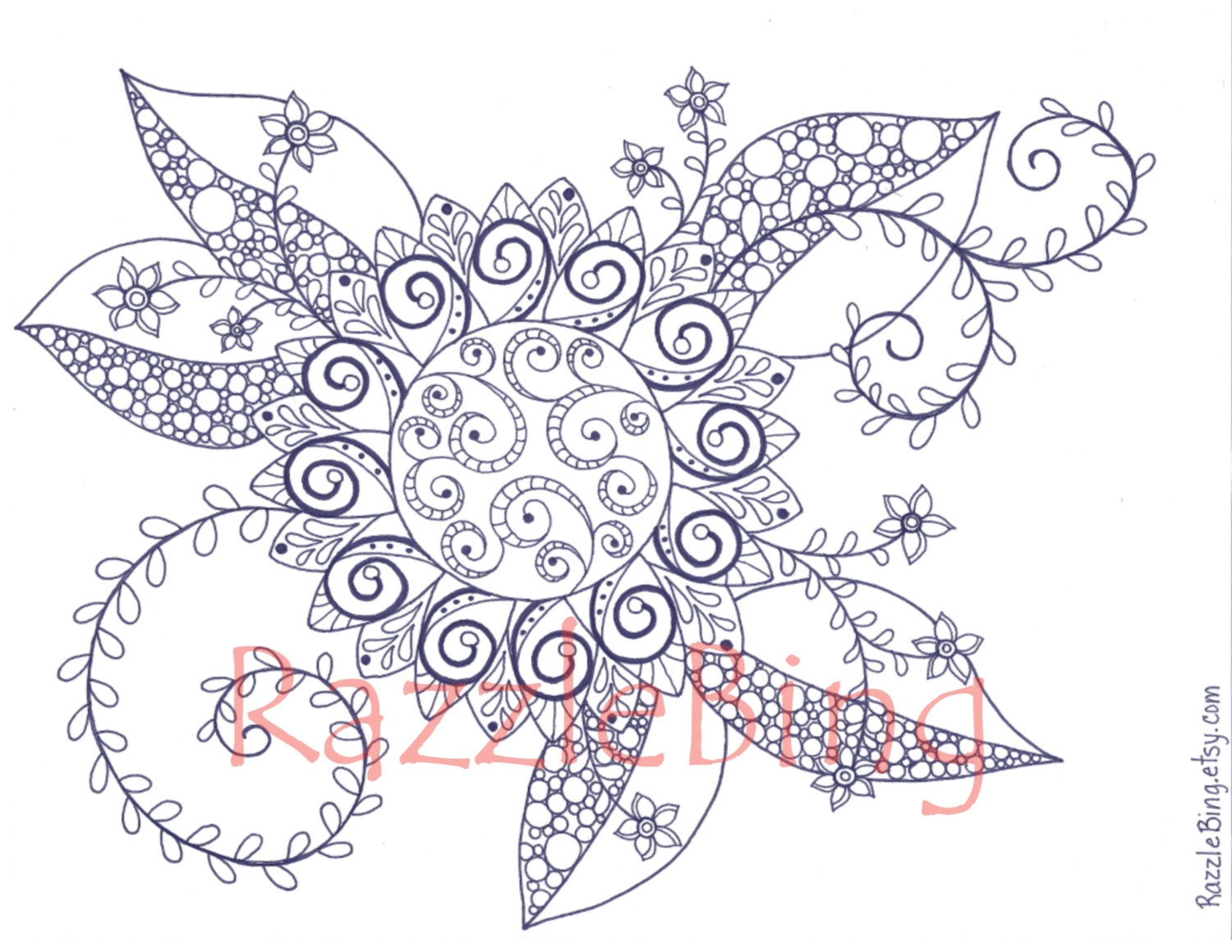 Uncategorized Swirl Coloring Pages diy printable coloring page zentangle inspiredgarden