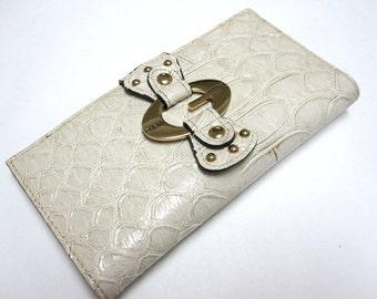 Ivory Guess Wallet Checkbook Billfold