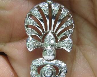 1.10CT Diamonds Modern Deco Diamond Necklace Italy