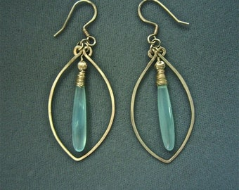SOLD Sterling Silver and Blue Chalcedony Earrings