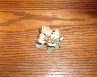 vintage pin brooch metal flower