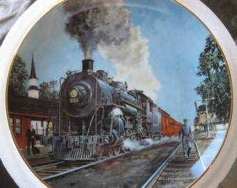 Vintage Train Collector Plate The Panama Limited by Jim Deneen 1991