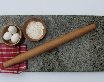Tapered French Rolling Pin for kitchen food prep, Solid Cherry, ready to ship