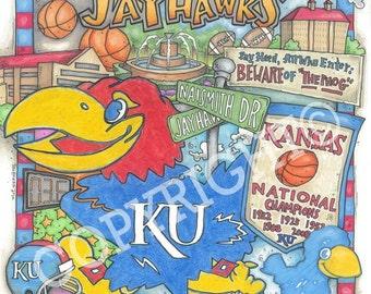 Kansas Jayhawk Print