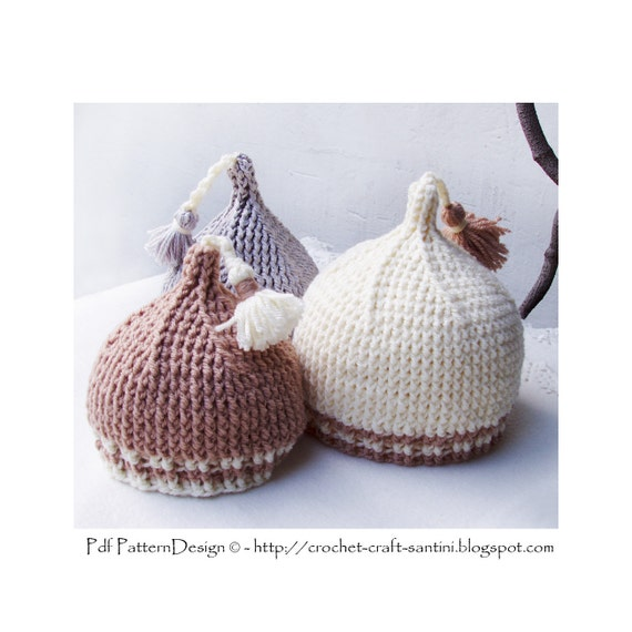 Crochet Tassel Hat Pattern For Baby : Kids and Babys Tip Top Tassel Hat Crochet Pattern