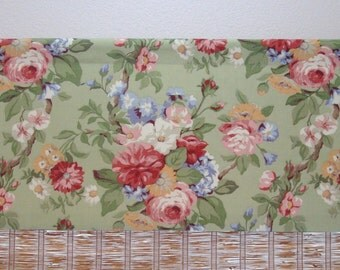 Kitchen Valance Floral Curtain Kitchen Curtain Valance Lined Valance 51x18