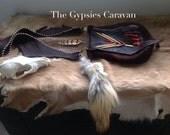 Riders On The Storm    Handmade gypsy tribal boho Elk leather shoulder bag purse