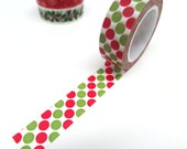 SALE! Green and Red Polka Dots Washi Tape