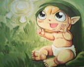 Baby Link and his Faery