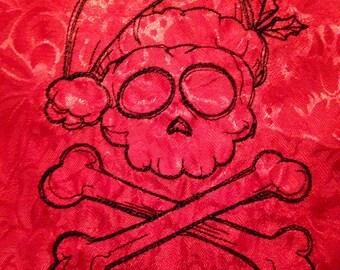 Santa Pirate xmas Table Runner, Free shipping
