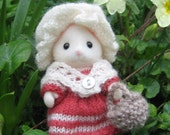 PDF Knitting pattern for Sylvanian Families & Calico Critters; 18th century costume - Going to Market