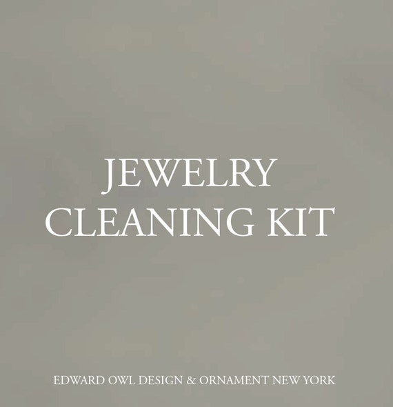 Cleaning Kit for Edward Owl silver and gold jewelry maintenance